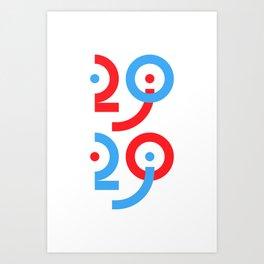 Happy 2020 Art Print