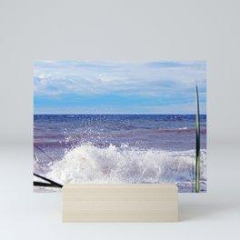 Wave Crashing onto the Beach Mini Art Print