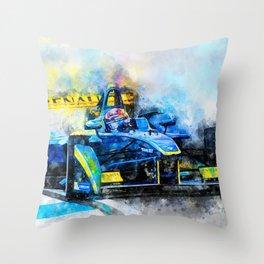 Sebastien Buemi, Formula E Throw Pillow
