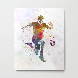 man soccer football player 09 Metal Print