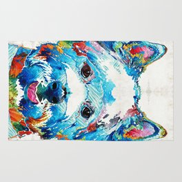 Colorful West Highland Terrier Dog Art Sharon Cummings Rug