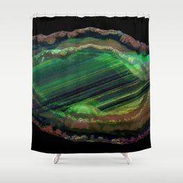 The Exotic Emerald Grotto Shower Curtain
