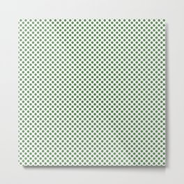 Hippie Green Polka Dots Metal Print