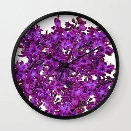 """""""Purple Hyacinth"""" Garden Queen Floras Wall Clock"""