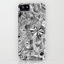 scribble me happy iPhone Case