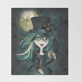 Raven's Moon Throw Blanket