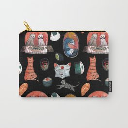 cats sushi party Carry-All Pouch