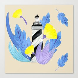 Romantic lighthouse // flowers and lighthouse Canvas Print