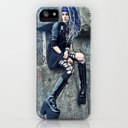Laces and Stone iPhone Case