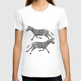 Zebras Pen and Ink tattoos by Lorloves Design T-shirt