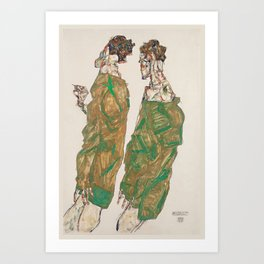 Egon Schiele - Devotion (1913) Art Print