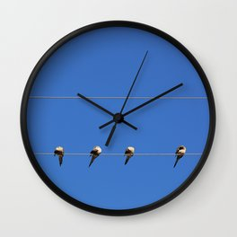 Four Doves Wall Clock