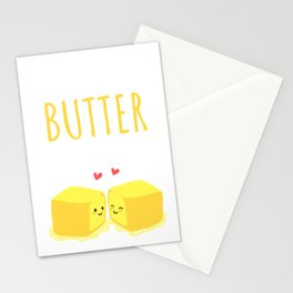 I Love You Butter Than Anyone Else, Cute Valentine Gift, Romantic Cute Couples Tees, Kawaii Food Stationery Cards