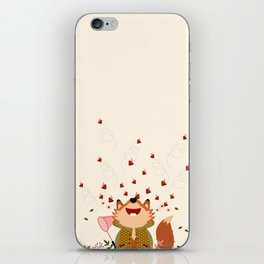 Chasser les papillons iPhone Skin