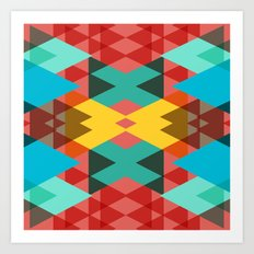 Geometric Crazy 3D Art Print