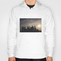 singapore Hoodies featuring Singapore Skyline by LeahArtOfficial