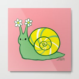 Sweetie Greenie Snail Metal Print