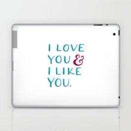 I love you & I like you -- Blue Laptop & iPad Skin