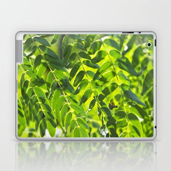 Sunny Leaves Laptop & iPad Skin