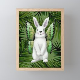 Winged Bunny Framed Mini Art Print