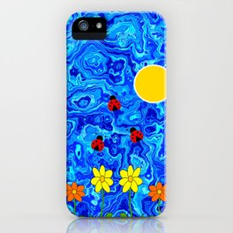 Blue Sky Summers Day iPhone Case