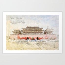 The forbidden City, Beijing Art Print