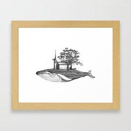 Ballena isla / Whale Island Framed Art Print