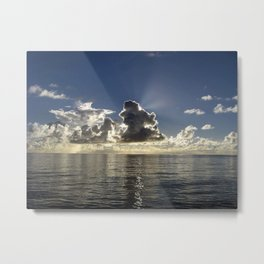 CLOUD PLAY AT SEA Metal Print