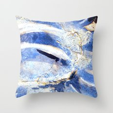 ink top, blue Throw Pillow