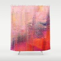 darren criss Shower Curtains featuring Criss Cross by RDKL, Inc.