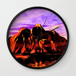 Land of Lava Wall Clock
