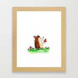 Howie the Hedgehog Framed Art Print
