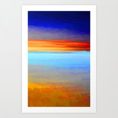 Painted Dawn Art Print