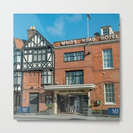 The oldest hotel in the city of Norwich Metal Print