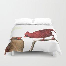 Northern Cardinals Duvet Cover