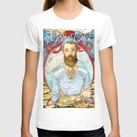dick T-shirts featuring Moby Dick by Rose Draft