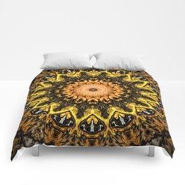 Gold Star Bohemian Mandala Design Comforters