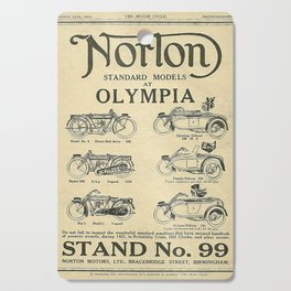 Vintage Norton Standard Advert Cutting Board