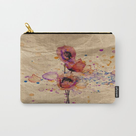 Poppies - abstract watercolor drawing Carry-All Pouch