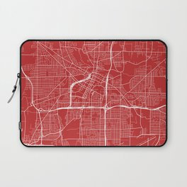 Akron Map, USA - Red Laptop Sleeve