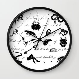 Macbeth Witches Chant Wall Clock
