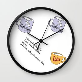 Coffee addict Wall Clock