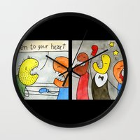 boxing Wall Clocks featuring Boxing by Bakal Evgeny