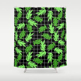 Leif - pattern grid minimal leaf repeating pattern hipster minimal iphone6 case for gender neutral  Shower Curtain