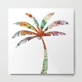 Palm Tree Fabric Metal Print
