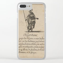 Game of Geography - The Niger (Stefano della Bella, 1644) Clear iPhone Case