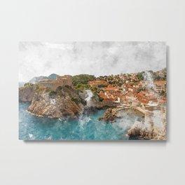 Dubrovnik, Croatia Metal Print