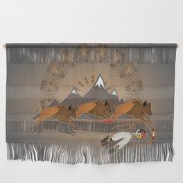 Native American Indian Buffalo Nation Wall Hanging