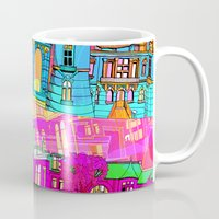 cityscape Mugs featuring Cityscape by Aimee St Hill