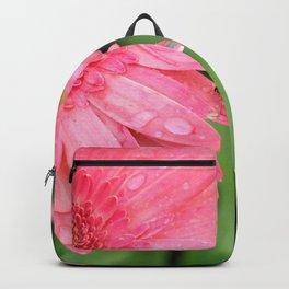 Pink Gerber Daisy Side Backpack